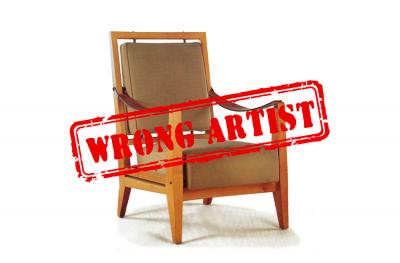 Attribution error for a $23,750 pair of armchairs to Jacques QUINET