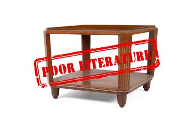 Misdocumented $3,800 art deco table by Paul FOLLOT