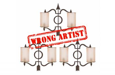 Attribution error for a $1,700 set of three sconces assigned to Andre Arbus