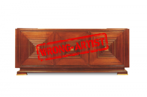 Attribution error for a $30,000 sideboard to Maxime Old