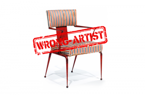 Attribution error for a $4,500 pair of armchairs to René Prou