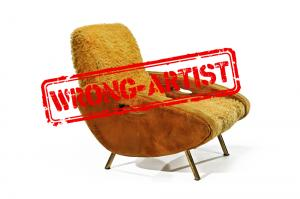 Attribution error for a $5,700 lounge chair to Marco ZANUSO