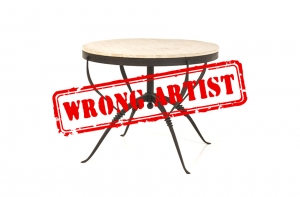 Attribution error at Piasa & Wright for a $22,800 table to René PROU