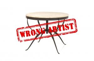 Erreur d'attribution chez Piasa et Wright pour une table de René PROU